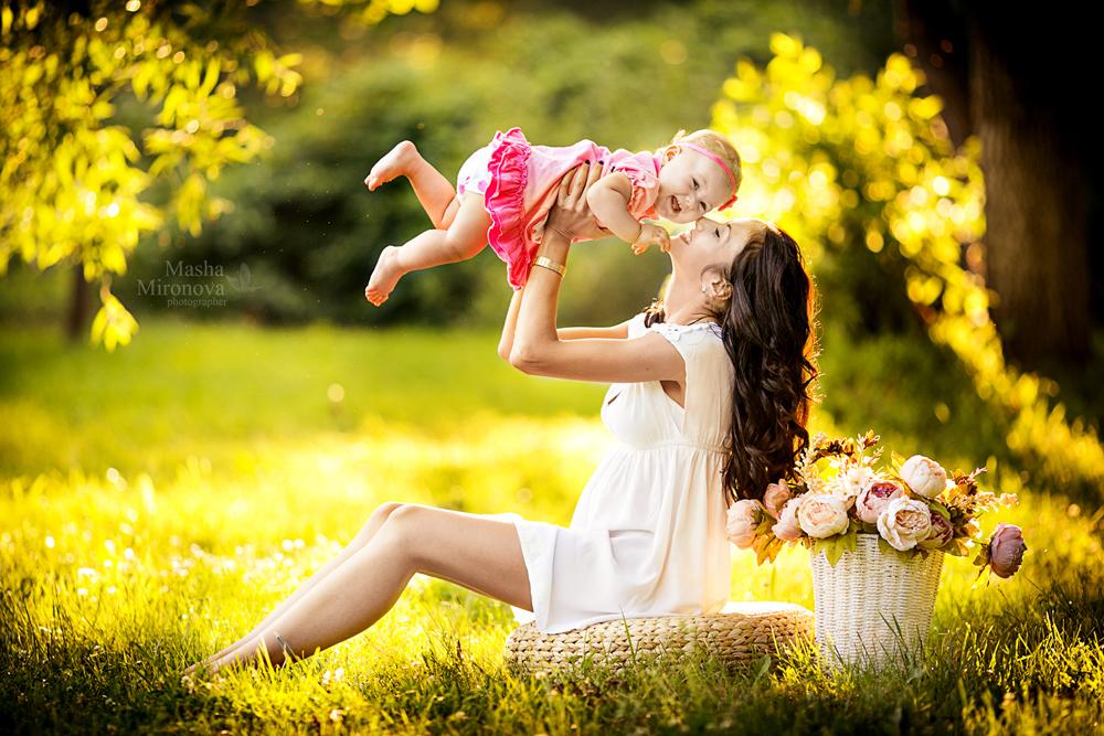 Как фоткать маму с ребенком на прогулке
