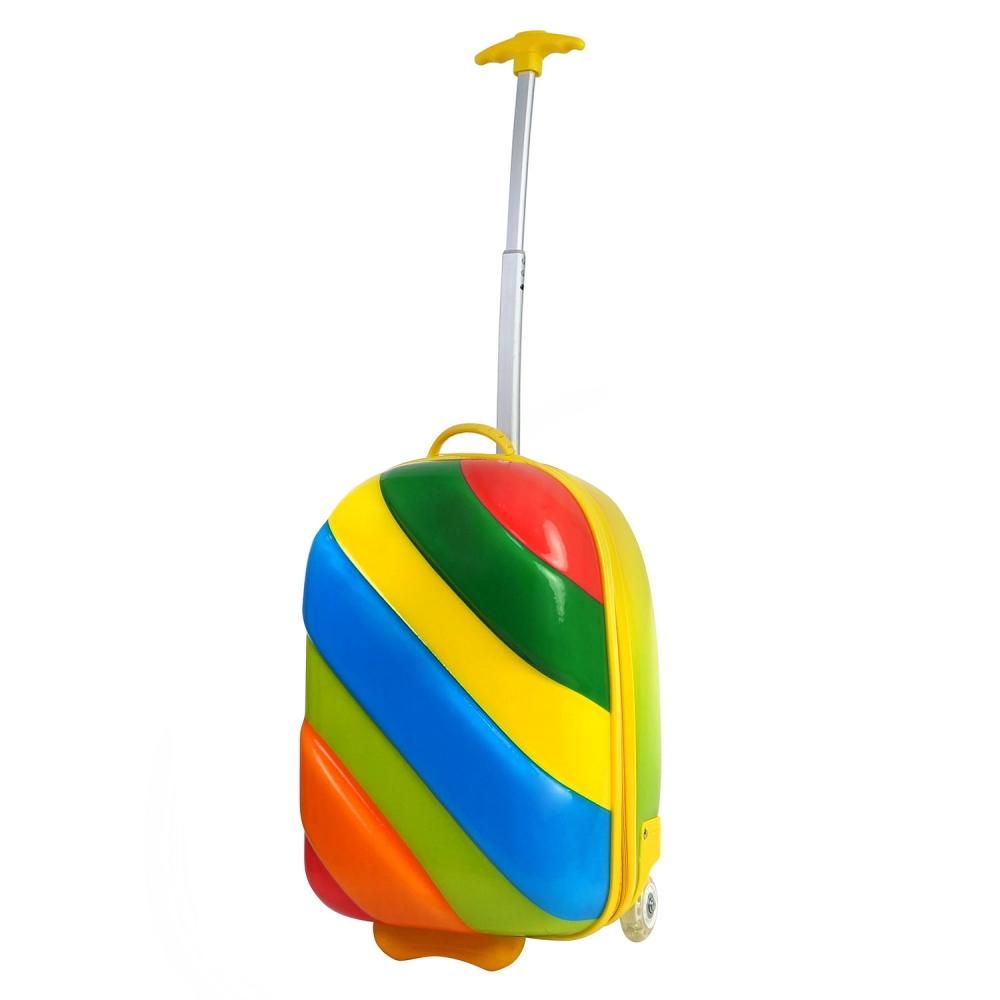 Bouncie чемодан на колесах с телескопической ручкой  Rainbow Misty 16