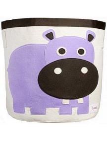 "Корзина для хранения 3 Sprouts ""Бегемотик"" (Purple Hippo)"