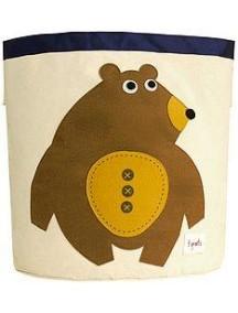 "Корзина для хранения 3 Sprouts ""Мишка"" (Toffee Bear)"