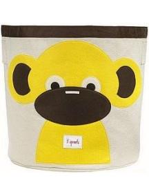 """Корзина для хранения 3 Sprouts """"Обезьянка"""" (Yellow Monkey)"""