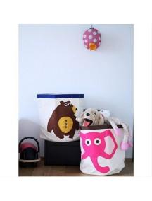 """Корзина для хранения 3 Sprouts """"Розовый слонёнок"""" (Pink Elephant)"""