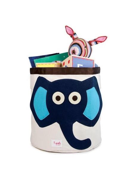 "Корзина для хранения 3 Sprouts ""Синий слонёнок"" (Blue Elephant)"