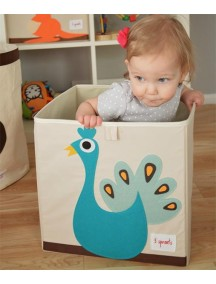 Коробка для хранения 3 Sprouts «Павлин»