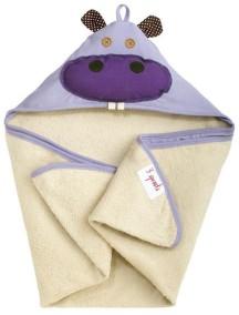 Полотенце с капюшоном детское 3 Sprouts «Бегемотик»