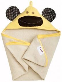 Полотенце с капюшоном детское 3 Sprouts «Жёлтая обезьянка»