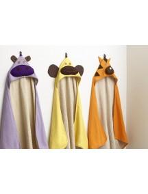 3 Sprouts Оранжевое детское полотенце с капюшоном
