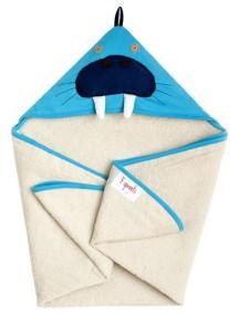 Полотенце с капюшоном детское 3 Sprouts «Морж»