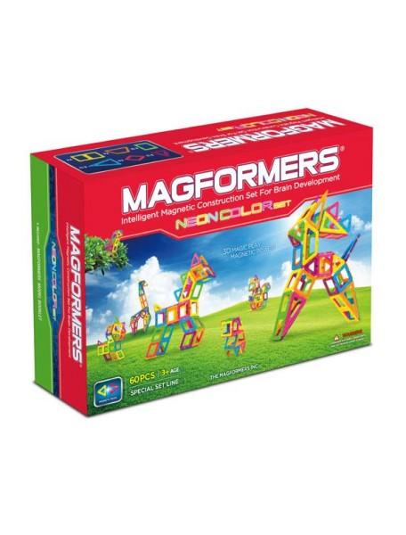 Магнитный конструктор MAGFORMERS 63110 Neon color set 60