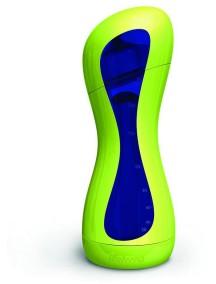 Бутылочка iiamo go St (зелено-голубая) со стальной нагревательной камерой