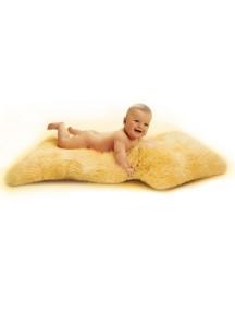 Шкурка-пеленка натуральная размер 95-100 см, овчина нестриженная длинный мех немецкого производителя Heitmann Felle