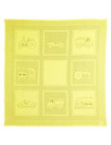 """MYB """"Car Squares"""" Плед для ребенка в подарочной упаковке 99х107 см, Желтый"""