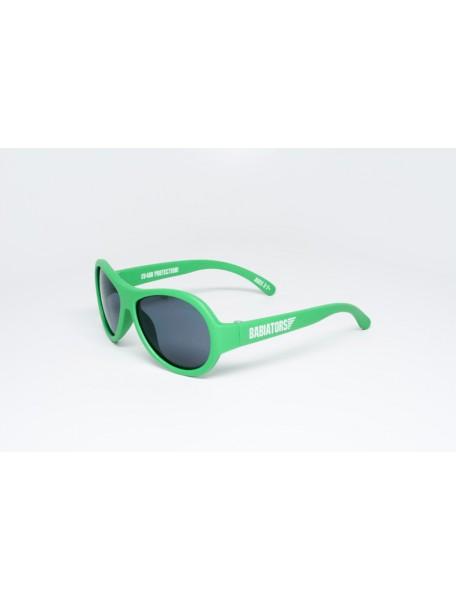 Солнечные очки Babiators Go Time (Бэбиаторс Время летит) зеленые. 3-7 лет