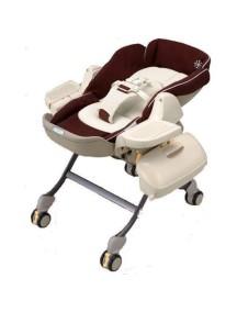 Многофункциональная люлька-стульчик COMBI - ручного укачивания, Roanju LY/CH (от рождения до 4 лет) (81029) Коричневая