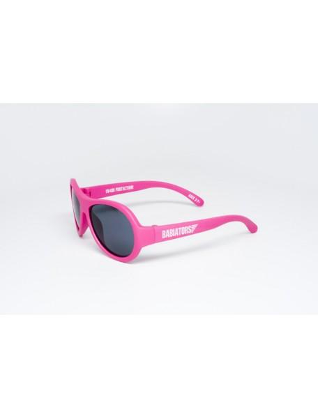 Солнечные очки Babiators Popstar (Бэбиаторс Поп-звезда) розовые. 0-3 года