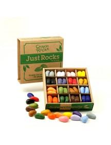 Мелки камушки восковые для рисования - набор 64 шт. в экобоксе