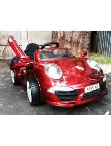 Детский электромобиль Porshe E911KX VIP (вишневый металлик)