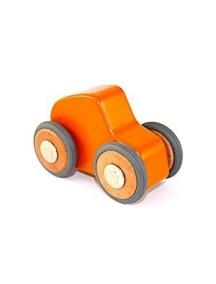 Деревянная машинка с магнитящимися колесами. Maddy micro. Orange