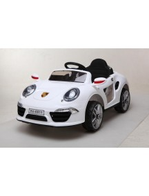 Детский электромобиль Porshe E911KX (белый) Rivertoys