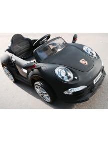 Детский электромобиль Porshe E911KX VIP (черный матовый) Rivertoys