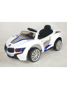 Детский электромобиль BMW E111KX (белый) Rivertoys