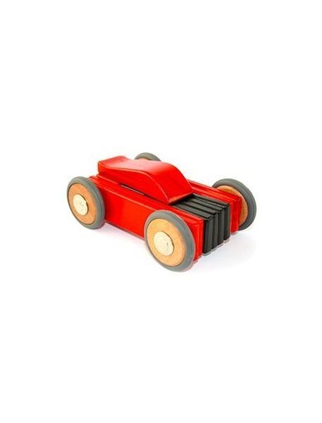 Деревянная машинка магнитная составная. Dart. Red