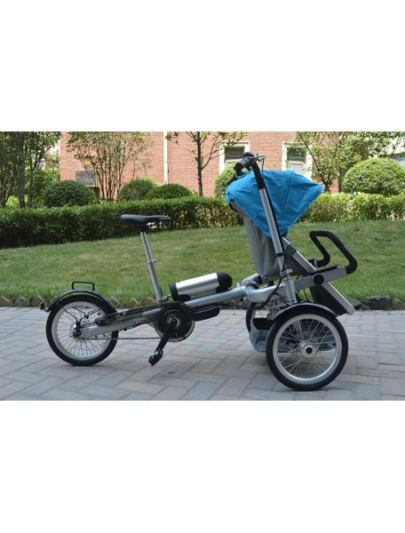 Вело-коляска Taga Bike M-TG красная/синяя