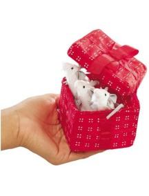Мягкая игрушка на руку Мыши в красной коробке, 8см от Folkmanis
