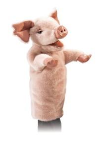 Игрушка на руку Свинья, 38 см от Folkmanis