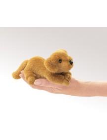 Мягкая пальчиковая игрушка Золотой ретривер мини, 18см от Folkmanis