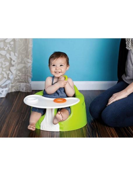 Напольное кресло Bumbo (Бамбо) со столиком для детей от 3 до 14 месяцев (цвет Лайм)