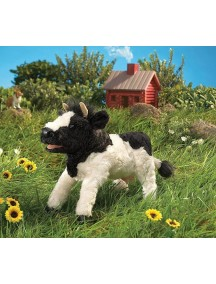 Мягкая игрушка на руку Корова, 38 см от Folkmanis