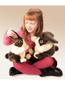 Мягкая игрушка на руку Детеныш кролика голландского, 25 см от Folkmanis