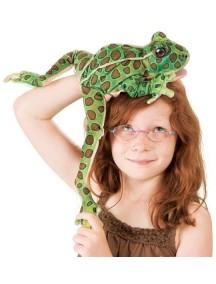 Мягкая игрушка на руку Лягушка леопардовая, 38см от Folkmanis