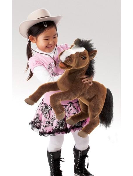 Мягкая игрушка на руку Лошадь, 50см от Folkmanis