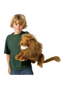 Мягкая игрушка на руку Лев, 41 см от Folkmanis