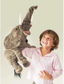 Мягкая игрушка на руку Слон, 51см от Folkmanis