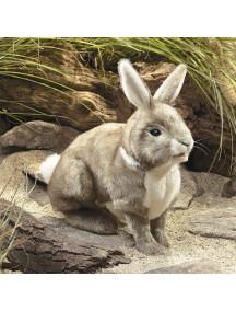 Мягкая игрушка на руку Американский кролик, 36 см от Folkmanis