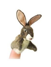 Мягкая игрушка на руку Маленький заяц, 25см от Folkmanis