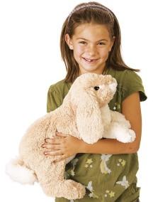 Мягкая игрушка на руку Вислоухий кролик, 43см от Folkmanis
