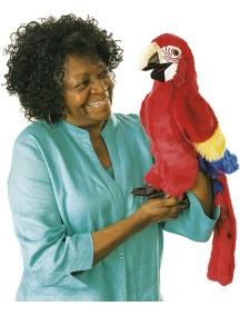 Мягкая игрушка на руку Попугай красный, 63см от Folkmanis