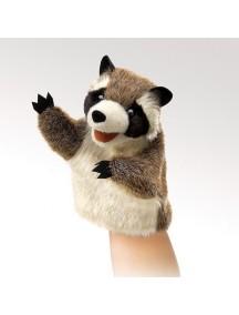 Мягкая игрушка на руку Маленький енот, 15см от Folkmanis