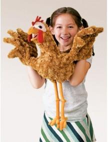 Мягкая игрушка на руку Курица, 56 см от Folkmanis