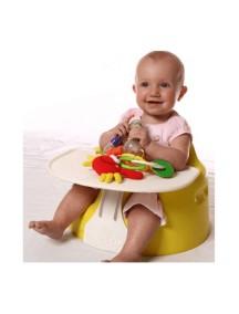 Напольное кресло Bumbo (Бамбо) со столиком для детей от 3 до 14 месяцев (цвет Желтый)
