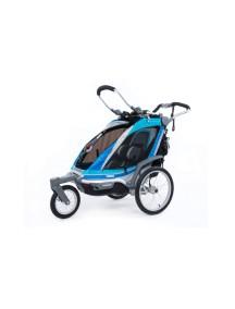 Детская коляска Thule Chariot Chinook 1 (Туле Шариот Чинук 1), в компл. с наб. спорт. и прогул. коляски, синий, 14-