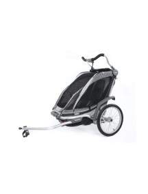 Детская коляска Thule Chariot Chinook 1 (Туле Шариот Чинук 1), в компл. с наб. спорт. и прогул. коляски, черно-серый, 14-