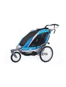 Коляска для 1 или 2-х детей Thule Chariot Chinook 2 (Туле Шариот Чинук 2), в компл. с наб. спорт. и прогул. коляски, синий, 14-