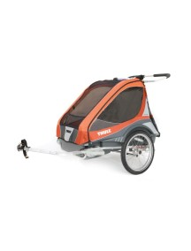 Коляска для 1-го или 2-х детей Thule Chariot Captain2 (Туле Шариот Капитан2), в комплекте с велосцепкой, абрикосовый, 14-