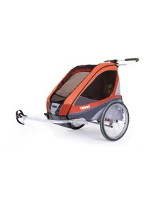 Коляска для 1-го или 2-х детей Thule Chariot Corsaire 2 (Туле Шариот Корсар 2), в комплекте с велосцепкой, абрикосовый, 14-