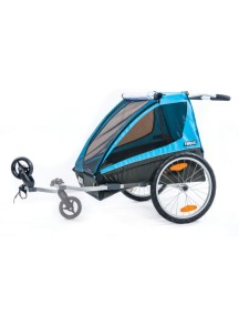 Велоприцеп-коляска для 1-2 детей Thule Chariot Coaster2 (Туле Шариот Коустер2) с велосцепкой и компл. прогул. коляcки синий, 14-